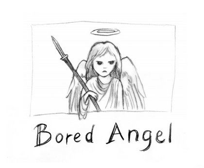 A short angel cartoon on comicspace