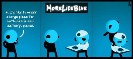 MoreLikeBlue: Pizza