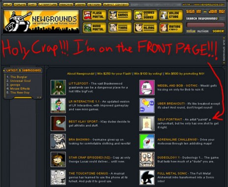 Newgrounds Reflection On Past Appearance