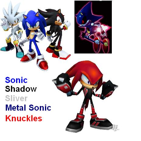 SONIC vs. SHADOW vs. SILVER vs. METAL SONIC vs. KNUCKLES