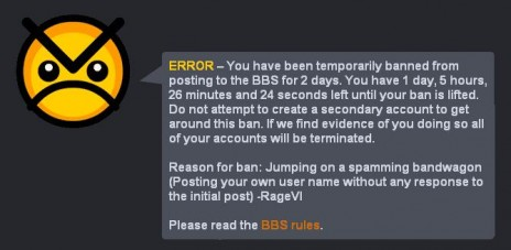Banned!