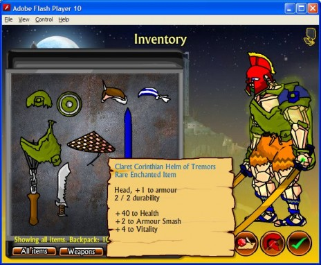 Swords & Sandals III: Armoury & Inventory