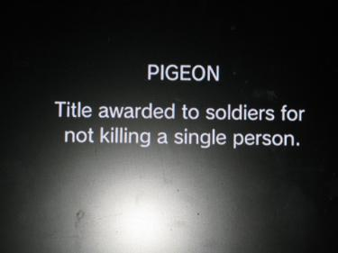 """You now refer to the title of """"Pidgeon"""""""