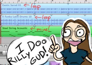 Yaay, I'm learnding music things!