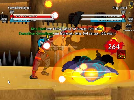 Swords & Sandals III: Spellcasting and particles