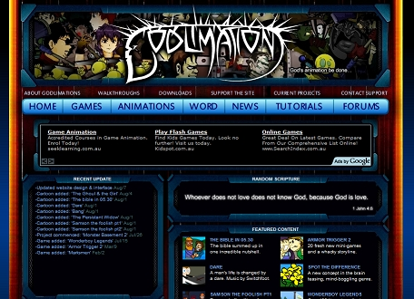 Updated Godlimations interface