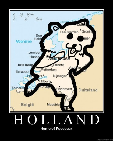 Holland is shaped like P-Bear