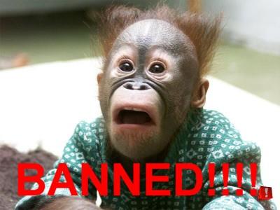 Arrg! Banned...