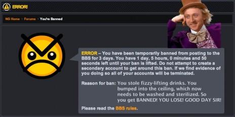 Second Ban!