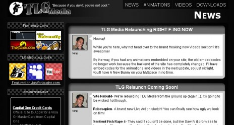 TLG Website Redesign! Robosapien Movie Trailer! I'm hungry!