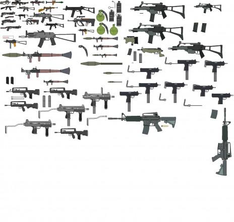 my new GUN sprites ^^