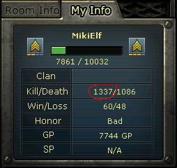 1337 (leet) kills!!!1