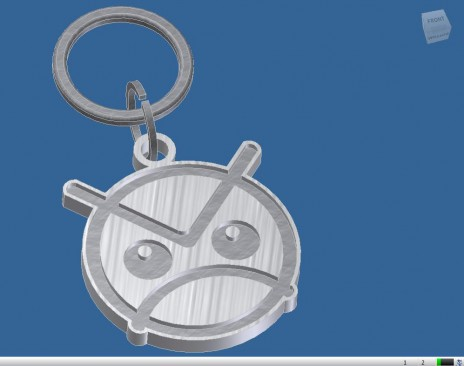 Angry Faic Keychain 3D model