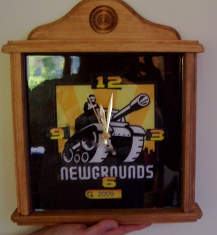 Newgrounds Clock