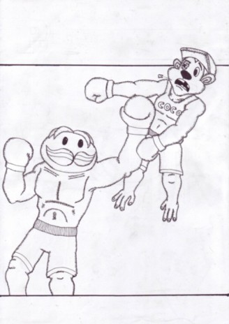 DRAWINGS! MR PRINGLE BOXING!
