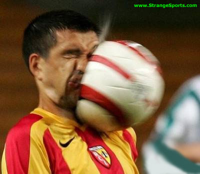 Ball in the face!