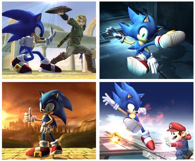Sonic in Super Smash Brothers Brawl!!!
