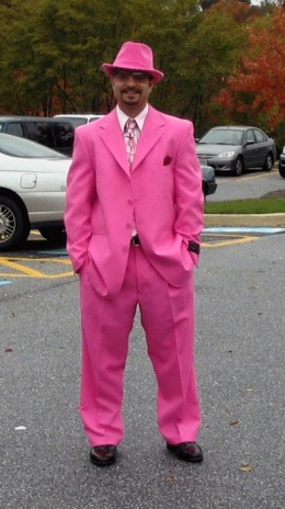 MEN DRESSED IN PINK?! HOW BIZARRE