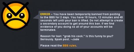 my first ban...