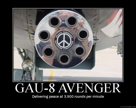 Delivering peace at 3,900 round per minute