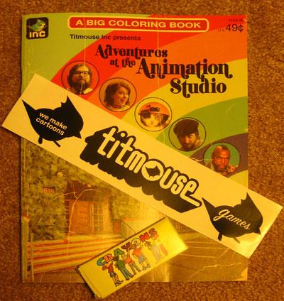 "Got my Titmouse's ""Big Coloring Book'!"