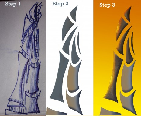 """How to do the futuristic building of my drawing """"future"""": part 1"""