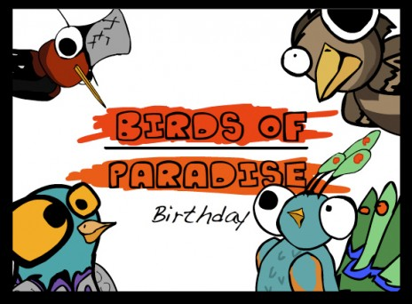 birds of paradise art