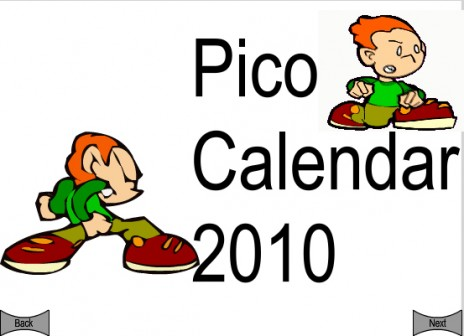 Pico Calendar 2010