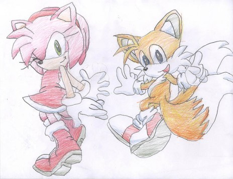 my best amy and tails