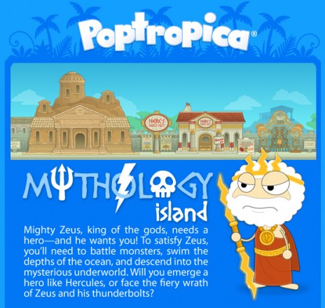 Poptropica has a new island