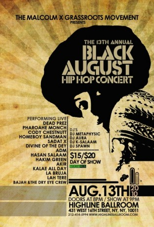 Black August Hip-Hop Project 2010