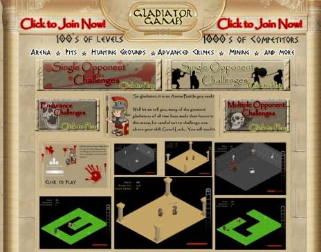 Gladiator Games on Facebook