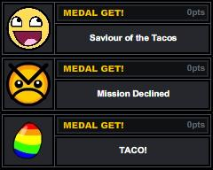 Medals on a game for a friend!