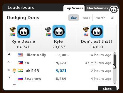Dodging Dons Highest Score! 84 741 points!!!