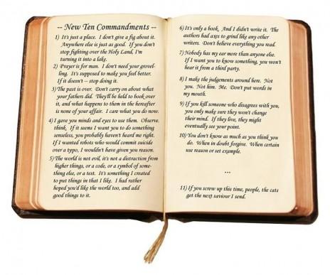 THE NEW TEN COMMANDMENTS