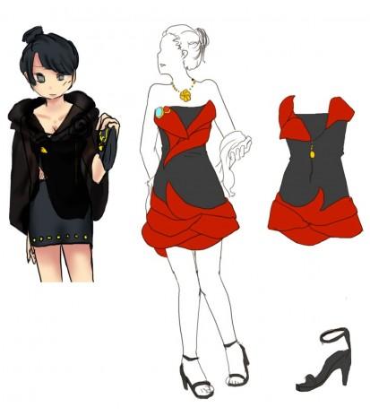 Designing dresses