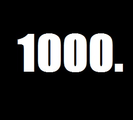 1000 Subscribers on youtube.
