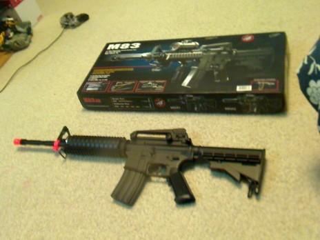 got an airsoft gun.