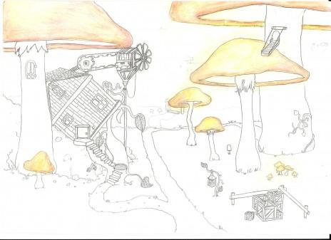 mushroom house ( art )
