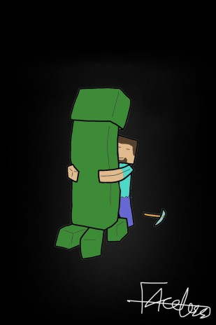All the creeper wants is a hug