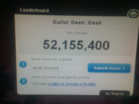 50mil Guitar geek goal COMPLETED!