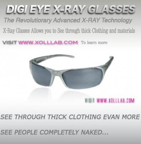 X-Ray glasses Digi eye XRay glasses Revolutionary Technology lets you see through thick clothing www.xolllab.com