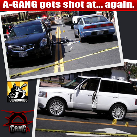Drive by shooting Murder attempt on A-Gang in the bronx...