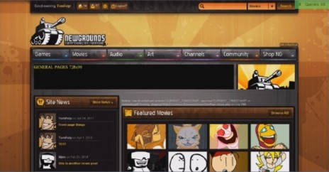 Newgrounds Redesign Tomorrow
