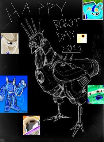 <strong/>It took me 5 hours to make that chicken picture and another half hour to put in the robot pictures