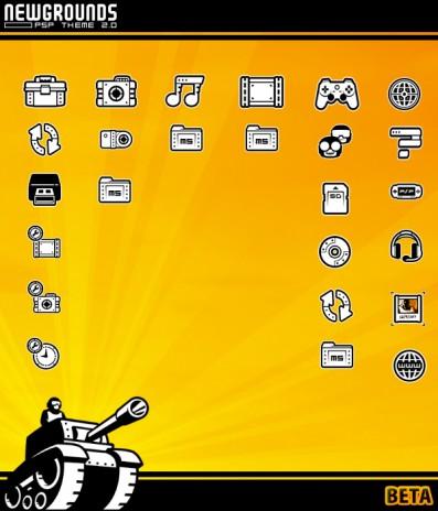 Newgrounds PSP Theme 2.0 Ultimate