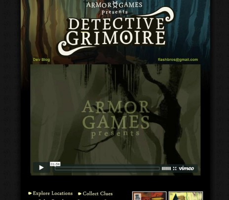 Detective Grimoire trailer and website!
