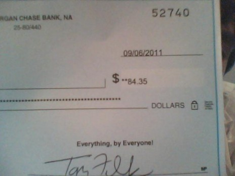 Got my NG Check/Cheque