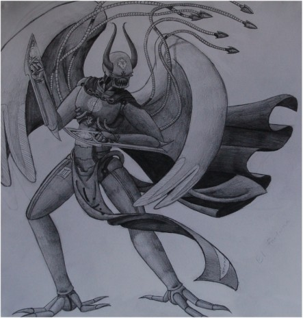 More dynamic drawing of A'Le Levitus.
