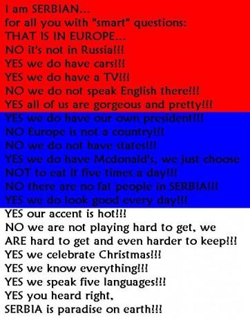 I AM SERBIAN
